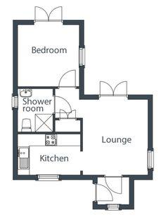 plano de casa 1 dormiorio