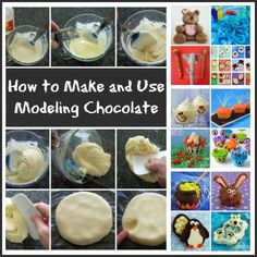 How to make and use modeling chocolate. It's easy and fun. See the step-by-step tutorial at HungryHappenings.com.