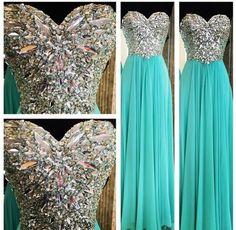 Image of Custom Made A Line Long Prom Dresses, Long Evening Dresses