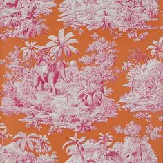Bengale Wallpaper, Paprika» Bengale Toile is another favorite from Manuel Canovas. For a bold look, paper the walls and use the coordinating fabric on the upholstery.