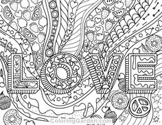 180 Best Hearts + Love Coloring Pages for Adults images in 2019 ...