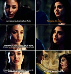 Beautiful scene between Maryse and Isabelle. Shadowhunters 2x14