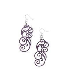 Love this Purple Filigree Scroll Drop Earrings on #zulily! #zulilyfinds