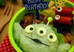 Buzz & Alien Toy Story Character Bento Recipe -  How are you today? How about making Buzz & Alien Toy Story Character Bento?