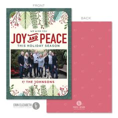 Such a cute floral Christmas card design.  This is fun, cheerful and perfect for the holidays!