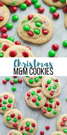 These Christmas M&M Cookies Are An Easy Christmas Cookie Recipe That Both Kids And Adults Love Soft And Chewy With Crispy Edges, Never Cakey Christmas Baking Christmas Cookies M&M Cookies Chewy Cookies Christmas Recipes Christmas Cookies Kids, Easy Christmas Cookie Recipes, Easy Cookie Recipes, Christmas Desserts, Christmas Baking, Cookie Ideas, Christmas Dessert For Kids, Christmas Treats, Christmas Christmas