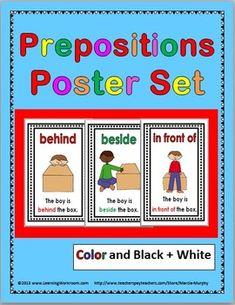 Prepositions Poster Set