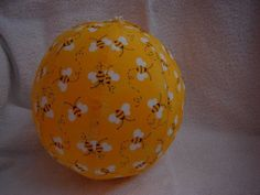 Balloon Ball with Drawstring Pouch in Bumble Bees by KerrysCrafts, $6.50