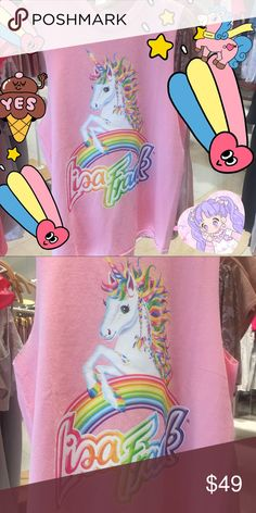 Lisa frank tank top amazing rare unicorn 80s Amazing tank top features our favorite unicorn!! New with tags size small it would fit up to large since it's a boxy fit. lisa frank Tops Tank Tops