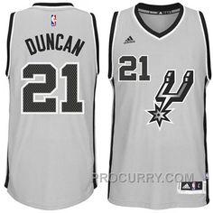 ecc9fda605fa6 Tim Duncan San Antonio Spurs  21 2014-15 New Swingman Alternate Gray  Jersey