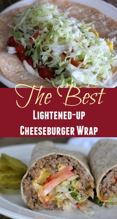 Healthy Grilled Cheeseburger Wrap Healthy Beef Recipes, Healthy Meal Prep, Healthy Drinks, Healthy Snacks, Healthy Eating, Cooking Recipes, Diet Recipes, Cooking Ham, Cooking Rice
