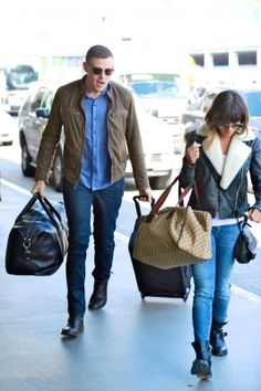 Lea and Cory at the airport