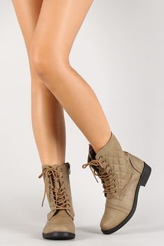 New Quilted Lace Up Military Combat Booties Ankle Boots Round Toe Low Flat Heel - Taupe Boot - Ideas of Taupe Boot - New Quilted Lace Up Military Combat Booties Ankle Boots Round Toe Low Flat Heel Price : Combat Boots, Ankle Boots, Mary Sue, Hello Autumn, Taupe, Autumn Fashion, Shoes Heels, Footwear, Lace Up