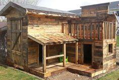 Membangun Rumah Kayu Dari Bahan Palet