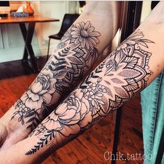 Tattoos diy tattoo images - tattoo images drawings - tattoo images women - tattoo images vintage - t Forearm Flower Tattoo, Small Forearm Tattoos, Forearm Sleeve Tattoos, Small Tattoos, Floral Mandala Tattoo, Half Sleeve Flower Tattoo, Unique Half Sleeve Tattoos, Mandala Tattoo Sleeve, Tattoos Arm Mann