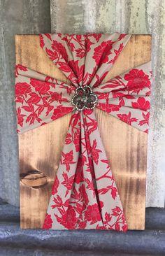 Fabric Wood Cross, Home Decor by DistinctlyBlackman on Etsy https://www.etsy.com/listing/255547496/fabric-wood-cross-home-decor