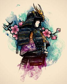 samurai   Samurai e a Cerejeira- Camiseteria