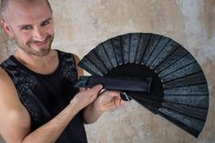 Jedi Hand Fan and Star Wars Folding hand fans with Sacred Geometry Cyberpunk Cosplay and Gothic Wedding Gift for Him Goth Outfit, Jedi Outfit, Cyberpunk, Self Design, Cosplay, Foto Art, Gothic Wedding, Steampunk Clothing, Sacred Geometry