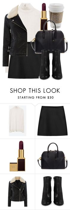 """""""Untitled #4735"""" by laurenmboot ❤ liked on Polyvore featuring Zara, STELLA McCARTNEY, Tom Ford, Warehouse and Miista"""