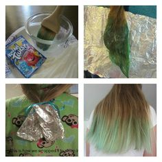 Fun summer activity with your girls: Kool-aid Hair Dyeing. http://www.milehighmamas.com/blog/2014/06/04/kool-aid-hair-dyeing/