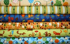 "Amy Schimler for Robert Kaufman, ""Animal Party Too"" in Earth - fabric used for my sons room"