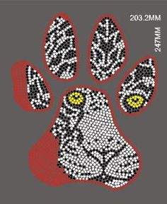 Tiger Design Rhinestone Motif