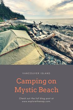 Mystic Beach on Vancouver Island is a beautiful beach featuring a waterfall and two rope swings. It's a great day-use beach, but also a superb camping spot!