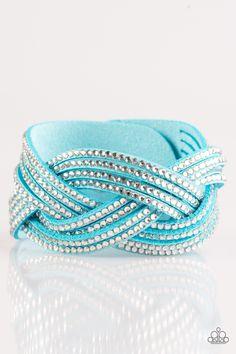 Big City Shimmer   $5 - No Tax #bracelet #uniquelyurban #blue #suede #rhinestones #yourblingboss
