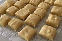 Ingredients     400g tin condensed milk   450g brown sugar   150ml milk   115g butter      How to make it :  Grease and line a 20cm square baking tin. Heat together the milk, condensed milk, butter and sugar over a low