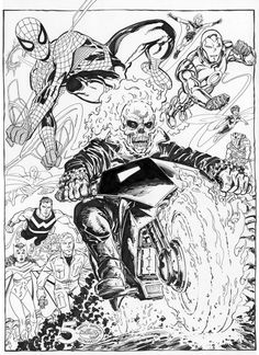 Spider-Man, Ghost Rider and West Coast Avengers by John Byrne
