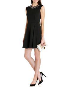 Ted Baker - Akla - Embellished skater dress - Black