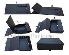 Customized rigid paper folding box, magnetic closure cardboard gift box,foldable paper box - from Alibaba.com