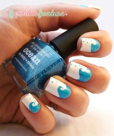 piCture pOlish 'Ocean' mani creation by La Paillette Frondeuse!  Buy on-line now:  www.picturepolish.com.au