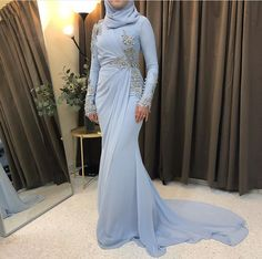 Muslimah Wedding Dress, Muslim Wedding Dresses, Muslim Dress, Blue Wedding Dresses, Bridesmaid Dresses, Formal Dresses, Hijab Evening Dress, Hijab Dress Party, Evening Dresses