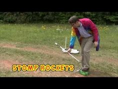 iScience Presents: STOMP Rockets!  DIY Stomp rockets for forces and motion.