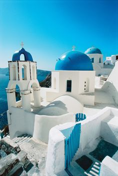 Domed Church, Santorini, Greece.
