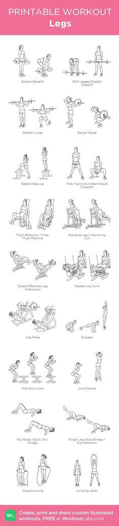 Leg Workout | Posted by: CustomWeightLossProgram.com