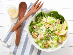 Caesar Salad recipe from Food Network Kitchen via Food Network - reduce garlic!!! Much too strong as is!!!