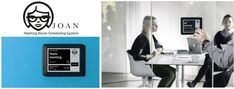 Meeting room booking tablet and display - Joan Manager Organize and book your meeting rooms and office spaces. Book meeting rooms remotely or on the spot on an interactive touch screen. Save a space for your meeting with Joan Manager. The perfect choice for a dynamic, digitally-advanced office.