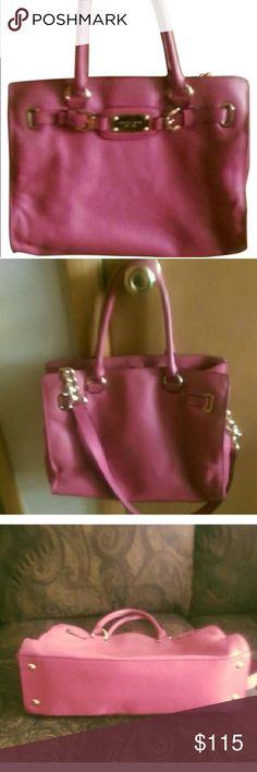 Michael kors pink magenta Hamilton bag Used, worn, has some life yet, needs light cleaning Michael Kors Bags Satchels