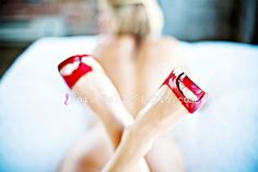 red shoes boudoir, out of focus