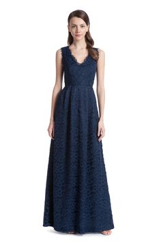 Navy Evening Lace Sierra Gown