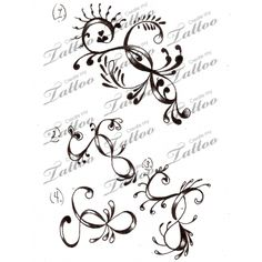 Marketplace Tattoo swirly , girly designs #3220 | CreateMyTattoo.com