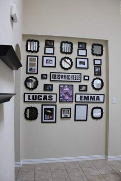 I finally created my own black picture frame and mirror photo collage in my front entryway layout from all the pins i collected! Wall Collage Picture Frames, Family Wall Collage, Mirror Wall Collage, Black Picture Frames, Frames On Wall, Picture Wall, Wall Art, Best Photo Frames, Living Room Background
