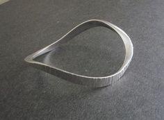 Carolyn Gleick Rosene Sterling Modernist Bangle Bracelet Signed MCM