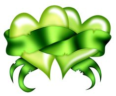 Lime Green Ribbon & Hearts.