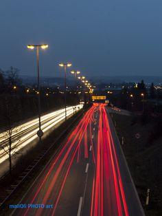 https://flic.kr/p/EJhFo7   Fast cars at night   On twilight city lights of Reutlingen.