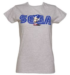 Ladies Sega and Sonic T-shirt from Truffleshuffle.co.uk
