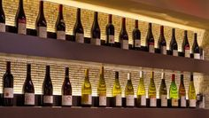 Wines on display at  Lers Ros restaurant in Hayes Valley. Photo: John Storey, Special To The Chronicle / SF