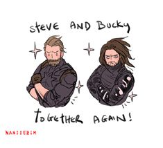 Steve and Bucky hair match!>> I have seen the movie:)))() Marvel Funny, Marvel Memes, Marvel Avengers, Steve Rogers Bucky Barnes, Bucky And Steve, Johnlock, Destiel, Loki, The Wicked The Divine